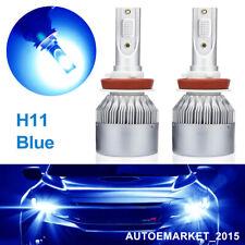Pair H11 H8 H9 CREE 200W Bulbs 12000K Blue LED Headlight Kit Low Beam COB Lamp