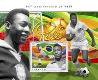 Liberia Football Stamps 2020 MNH Pele Famous People Soccer Sports 1v S/S