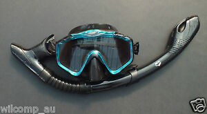 New Mask and Dry Snorkel - Snorkeling Diving Liquid Silicone Set WIL-DS-33A