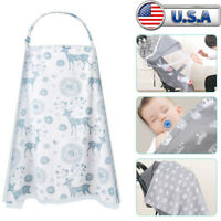 Nursing Cover For Mother Breastfeeding Breathable Cotton with Storage Outdoor US