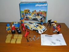 Playmobil 3738 White Race Car Pit Crew Set *MISSING PIECES*