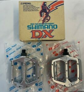 Old School BMX - NOS Shimano DX Pedals in Silver - Kuwahara JMC Hutch Skyway GT