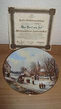 Tirschenreuth Sammelteller - Das Dorf am See - Zierteller- Bradex Porzellan -OVP