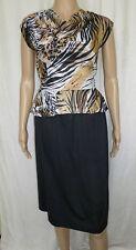 Ladies vintage 80s peplum tea dress fit size 6