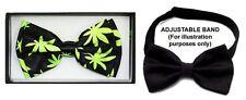 Marijuana Weed Cannabis Bow Ties For Men & Adults  (EBTiePr8)