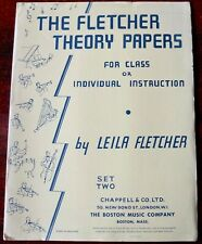 THE FLETCHER THEORY PAPERS SET  (1985) PIANO FOR CLASS OR INDIVIDUAL INSTRUCTION
