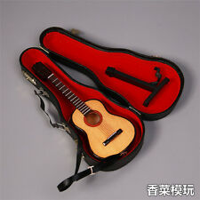 1/6 Scale Handmade Wooden Classic Folk Electric Guitar Model Instrument Toy