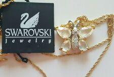 NWT SWAROVSKI CRYSTAL BUTTERFLY NECKLACE  GOLD AUTHENTIC MOTHERS DAY