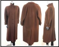 Liberty Coat Cashmere & Wool Long Camel Tan Brown England 80's ~ UK 12