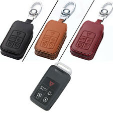 PU Leather 5 Buttons Entry Remote Key Fob Protector Case Cover For Volvo B Style