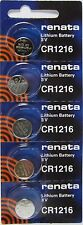 CR 1216 RENATA WATCH BATTERY (5 piece) ECR1216 FREE SHIPPING Authorized Seller