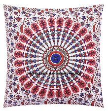 Peacock Mandala Hippie Gypsy Throw Pillow Case Indian Cushion Cover Home Decor