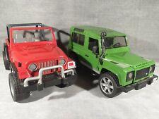 Land Rover et Jeep Wrangler Bruder bon état incomplets