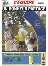 CYCLISME carte LA UNE DE L'EQUIPE TOUR DE FRANCE 2002 JALABERT ARMSTRONG