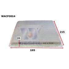WESFIL CABIN AIR FILTER CAMRY 2002-2006 COROLLA 2000-2007 RAV4 YARIS WACF0014