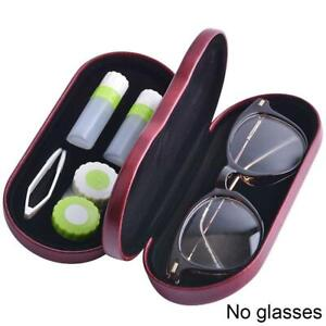 Dual Use Glasses Case Handmade Double Layer Box Multi-Purpose Contact Lens Boxes