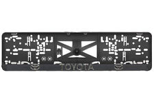 TOYOTA Prius,RAV4,Celica,Landcruiser,Verso 2xECHTE 3D-Effekt Kennzeichenhalter