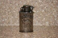 NIB Vintage Camel Flip-Top Table Cigarette Lighter Trench Oval