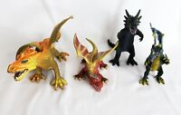 Lot of 14 Toy Dragon Animals Figures Plastic