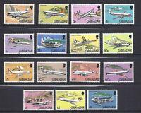 Gibraltar 1982 Aeroplanes Complete Set MNH