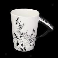 Tasse Porcelaine Ancienne Note Musique avec Poignée piano cadeau créatif