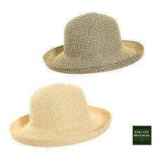 Ladies Packable Sun Hat Rolls for Travelling Braided Cloche Hat Lightweight