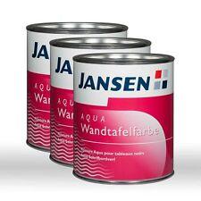 3 x Jansen Aqua Wandtafelfarbe farblos 0,75l