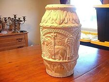 RARE Antique German Carved Pottery Vase Poss. F Kochendorfer