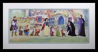 Cast Snow White Seven Dwarfs Sericel Frame Custom Background Disney Certificate