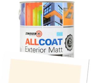 Zinsser Allcoat Exterior 15 Year Protection WB Tintable RAL9001 Cream Matt 1L