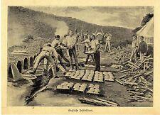 Englische Feldbäckerei (im Burenkrieg)*  Bilddokument von 1900
