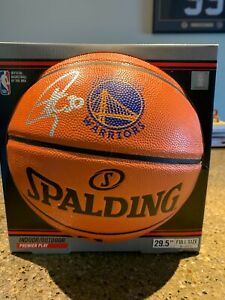STEPHEN CURRY Signed Autographed Golden State Warriors Logo Basketball Fanatics!