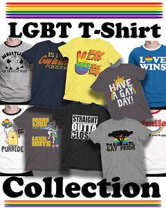Gay Pride Festival LGBT Organic TShirt Mens Ladies Unisex Lesbian Rainbow Colour