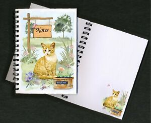 Cat (Ginger) Notebook/Notepad + small image on every page by Starprint
