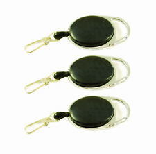 Set of 3 - Black Stainless Steel Cable Retractor Zingers Item 1910Z