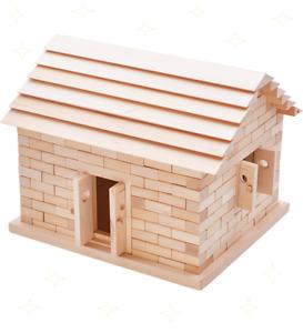 Wooden Construction Building Blocks Bricks Kids Toy Set Pieces