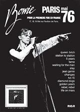 David Bowie poster - Fantastic concert promo live Paris Pavillion 76 new design