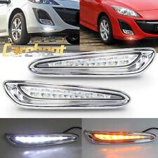 Pair LED Daytime Running Light For Mazda 3 Axela Car Fog Lamp DRL 2010-2013