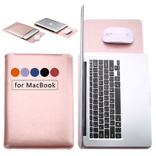 "Soft Leather Sleeve Case Bag Cover 11""/12""/13""/15""inch for MacBook Pro Notebook"