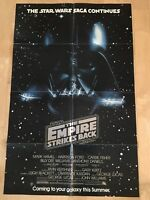 Star Wars The Empire Strikes Back Original One Sheet Movie Poster Teaser Advance