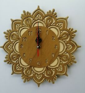30cm Wooden wall clock-Laser Crafted Gift