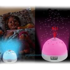 Creative Star Sky LCD Projection Lamp Alarm Clock Night Light Kids Bedroom Decor