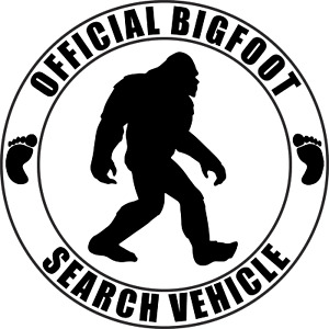 Official Big Foot Search Vehicle Bigfoot Sasquatch Vinyl Decal Sticker Graphic