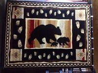 Black Bear HEAVY heat set  Roomsize Rug For The Home 5X8