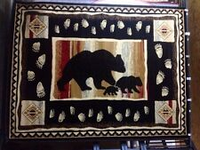 New! Black Bear Roomsize Rug For The Home 8x10