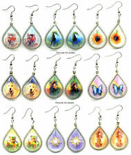 10 THREAD EARRINGS ANIMALS PICTURES IMAGES PERU JEWELRY