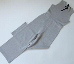 NWT J.Crew Sleeveless Lurex Jumpsuit in Silver Metallic Velvet Tie Jumper S $188