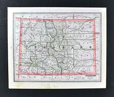 c 1883 Geo Cram Map - Colorado Denver Pueblo South Park Springs Gunnison Boulder