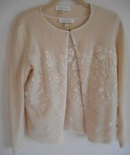 ESCADA Cardigan Pullover Sweater Set Size 8 38 White Ivory Wool Cashmere Lace