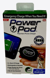 Android Power Pod Key Chain Emergency Charger For *USB-C* Android Devices New